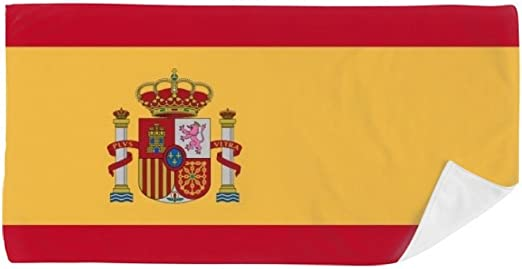 DIYthinker España Nacional a la Bandera Europa País Toalla de baño Suave paño de Facecloth 35X70Cm: Amazon.es: Hogar