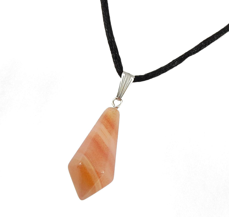 Carnelian Crystal Gemstone Points on Leather Necklace-Orange gemstone-Red Crystal-Orange-Men/'s Gift-Surfer Necklace-Men/'s Jewelry-Woman Gift