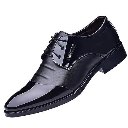 LuckyGirls Zapatillas de Cuero Trajes Negocio Patchwork Casual Moderno Calzado Zapatos con Cordones Bambas Zapatos de