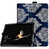 Fintie Protective Case for Microsoft Surface Go 10 Inch Tablet - Premium Vegan Leather Folio Stand Cover with Stylus Holder, Compatible with Type Cover Keyboard (Indigo Dreams)