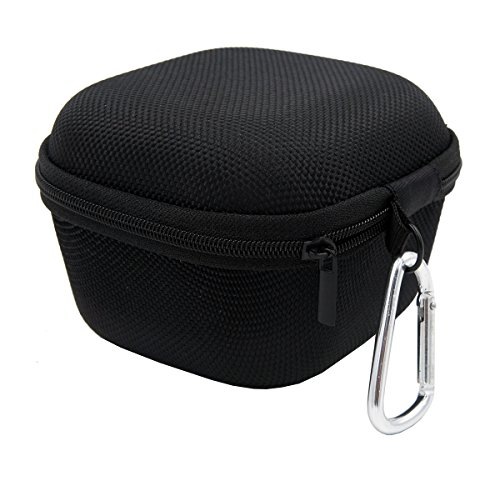 Carrying Hard Case Storage Holder With Clip Hook Zipper For Sony SRS-X11 Bluetooth Speaker (Black)