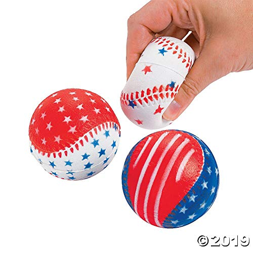 12 Pc. Patriotic Baseball Stress Balls- Sold by: Mike's Garage Sale - Stress Patriotic Ball