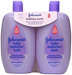 Johnson's Baby Bath Bedtime, 28 Ounce (Pack of 2)