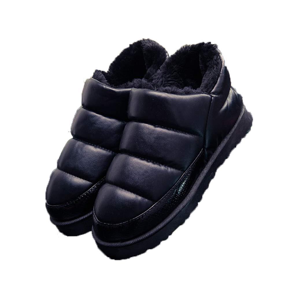 Women Booties Slipper Indoor Outdoor Winter Flats Waterproof Ankle Boots Moccasin