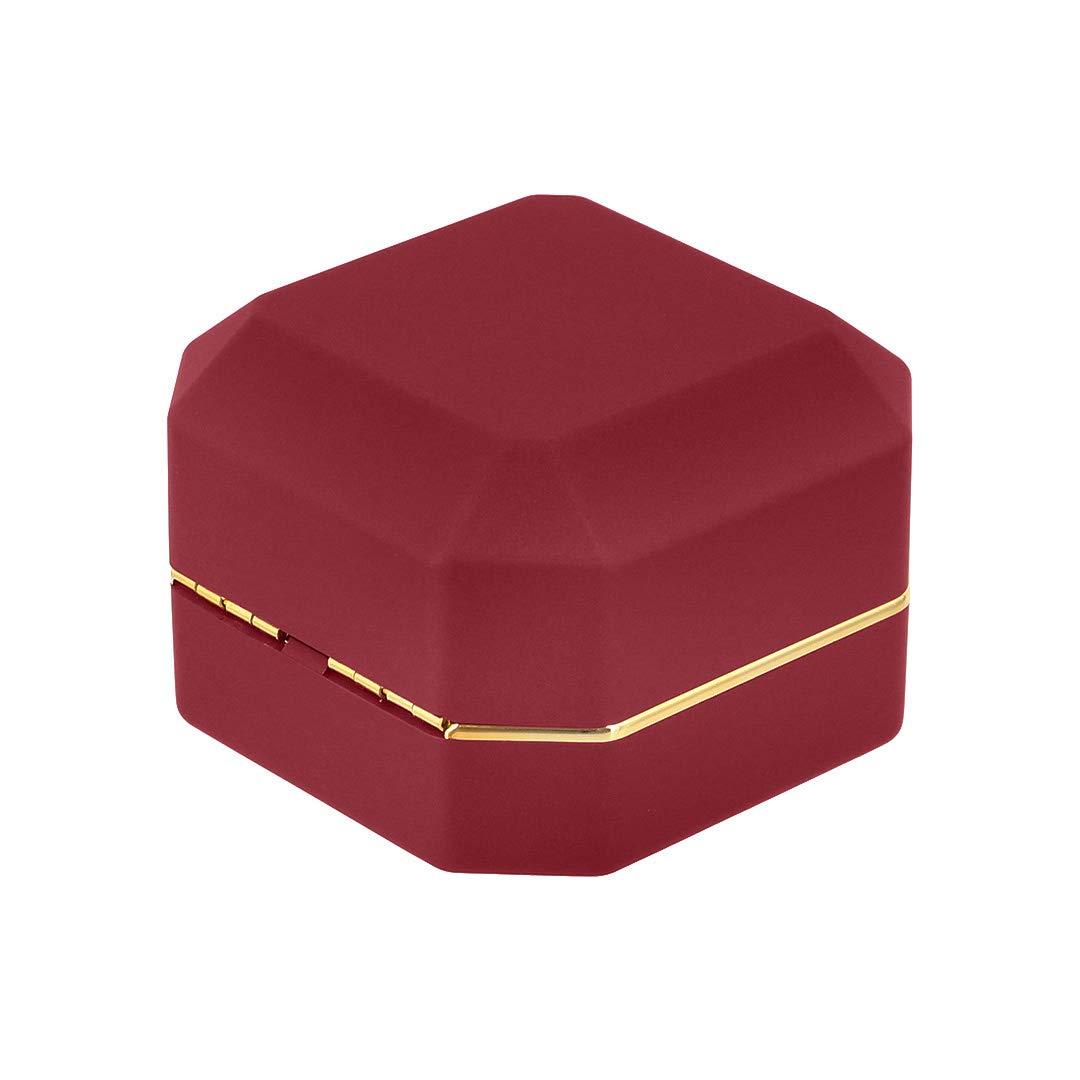 Amazon.com: Orita - Anillo de compromiso con luz LED, talla ...
