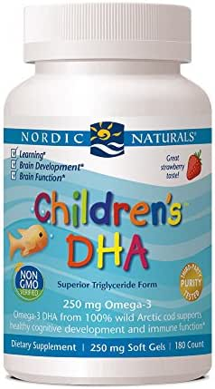 Nordic Naturals Children's DHA 250 mg Chewables, Strawberry, 180 ct