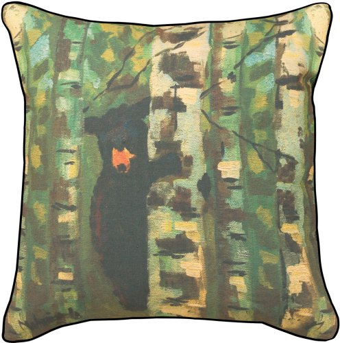 Manual The Lodge Collection Throw Pillow, 18 X 18-Inch, Bear