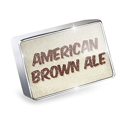 Floating Charm American Brown Ale Beer, Vintage style Fits Glass Lockets, Neonb