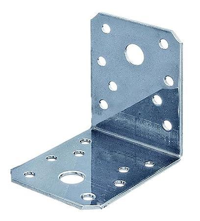 40 x 40 x 40 mm - 330200 superficie zincata a caldo 50 pz GAH-ALBERTS Set di squadrette di giunzione angolari