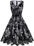 IHOT Vintage Tea Dress 1950's Floral Spring Garden Retro Swing Prom...