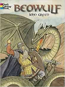 Beowulf dover classic stories coloring book john green for Beowulf coloring pages