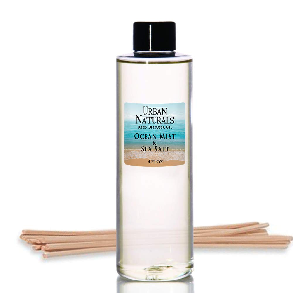 Urban Naturals Ocean Mist & Sea Salt Scented Oil Reed Diffuser Refill   Includes a Free Set of Reed Sticks! 4 oz. by Urban Naturals