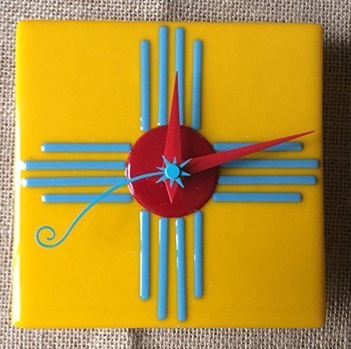 Zuni Sun Fused Glass Wall Clock