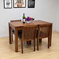 Mod Made Block 5-Piece Solid Wood Dining Set