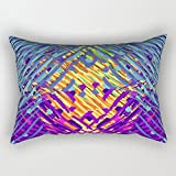 throw pillow case of geometry,for drawing room,sofa,dinning room,couch,gf,bench 20 x 30 inches / 50 by 75 cm(double sides)