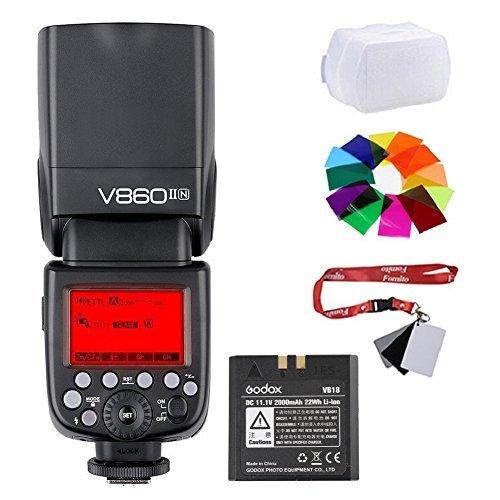 Fomito Godox v860ii-n 2 4 G TTLリチウムイオン電池カメラフラッシュSpeedlite v860iin for Nikon d800 d700 d7100 d7000 d5200 d5100 d5000 d300 d300s d3200 d3100 d3000 d200 d70s d810 d610 d90 d750カメラの商品画像