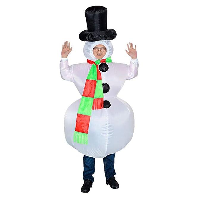 Liqiqi - Disfraz Hinchable de Papá Noel para Fiestas de ...
