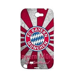 3D FC Bayern Munchen Retro Classical Plastic Phone Case for Samsung Galaxy Note 2 N7100 FC Bayern Logo