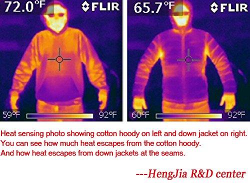 Women's Stylish Lightweight Packable Down Puffer Sleeveless Fall & Winter Vest Navy US Large(Asian 3XL) by HENGJIA (Image #4)