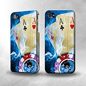 Apple iPhone 4 / 4S Case - The Best 3D Full Wrap iPhone Case - Casino