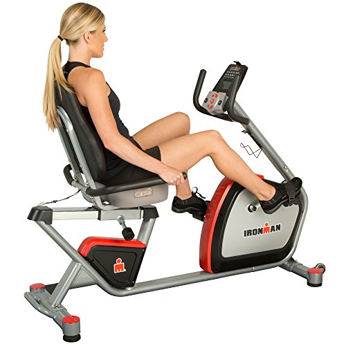 IRONMAN H-Class 410 Smart Technology Recumbent Bike with Bluetooth, IRONSTRONG Apps and Air Soft Seat