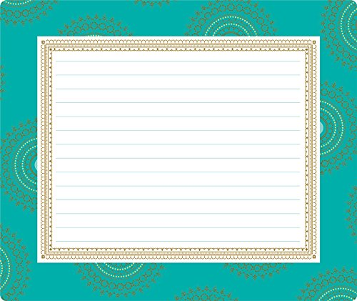 Anna Griffin Turquoise Collection Mouse Pad Notepad With Foil Accent