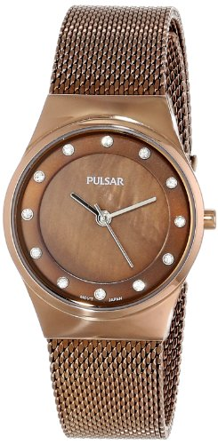 Pulsar Women's PH8055 Analog Display Japanese Quartz Brown Watch