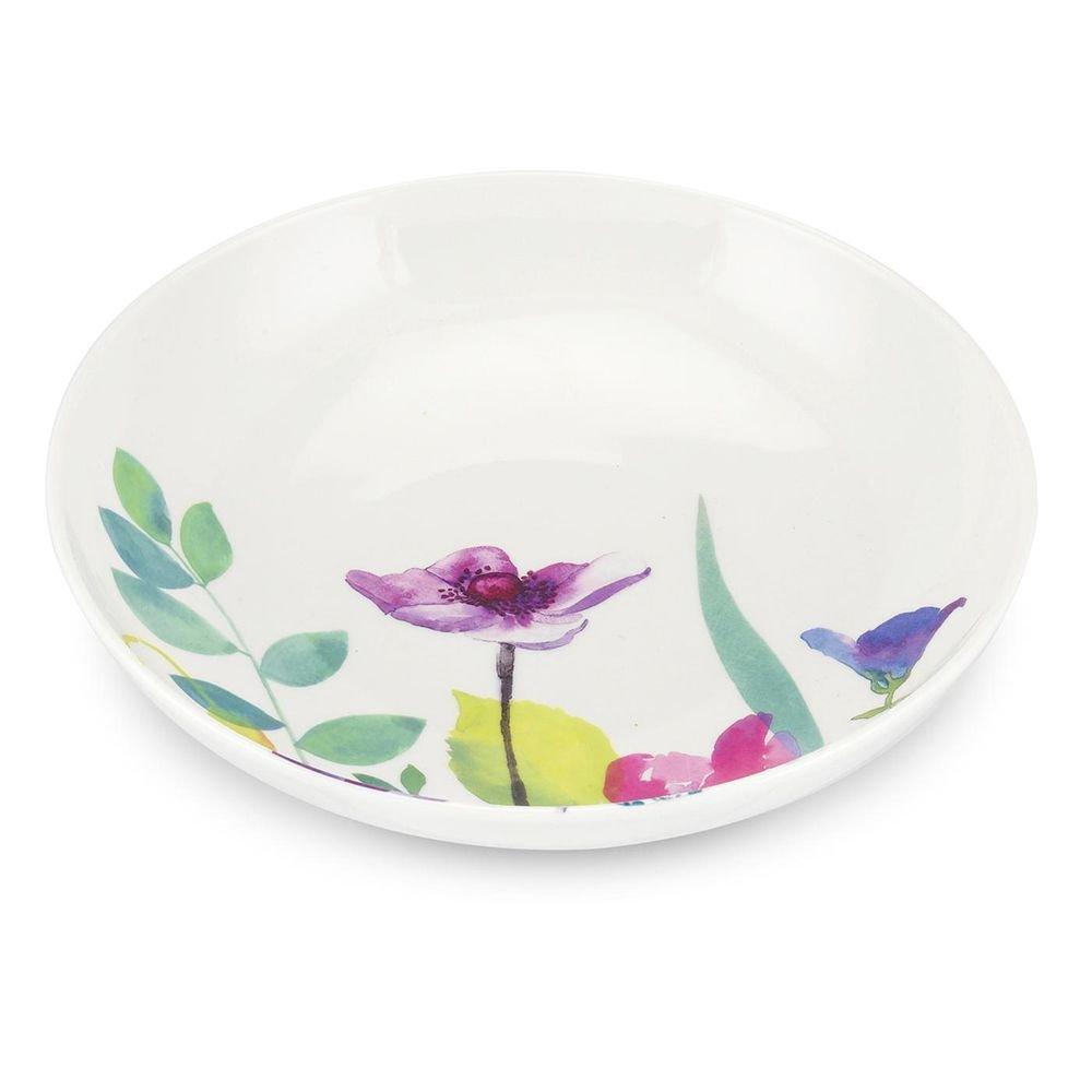 Portmeirion Water Garden Pasta Bowl, Set of 4, Multi-Colour WG67410-XL