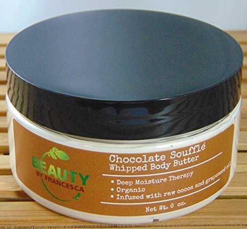 Chocolate Souffle Body Souffle - Handmade Whipped Body Butter - Chocolate Soufflé - 6 Ounces