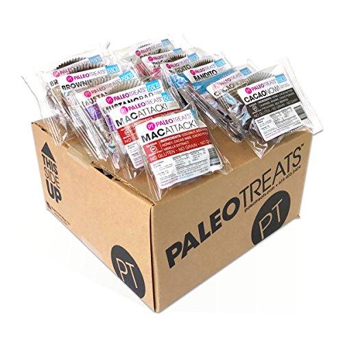 Paleo Treats Sample Pack (2 Bandito, 2 Brownie Bomb, 2 Cacao Now, 2 Mac Attack, 2 Rocket, 2 Mustang Bar) (California Brownie Chocolate)