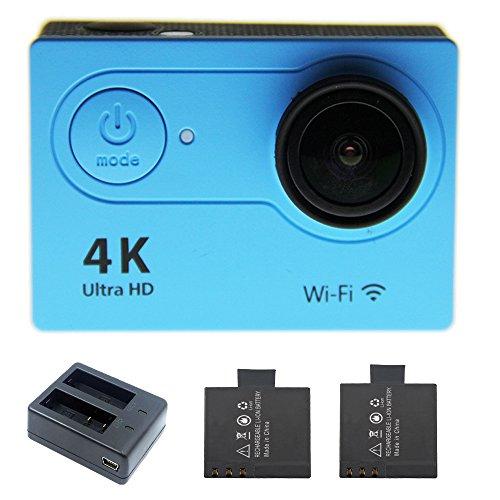 1080p H.264 30fps Full HD Waterproof Wi-Fi Sports Camera (Blue) - 5
