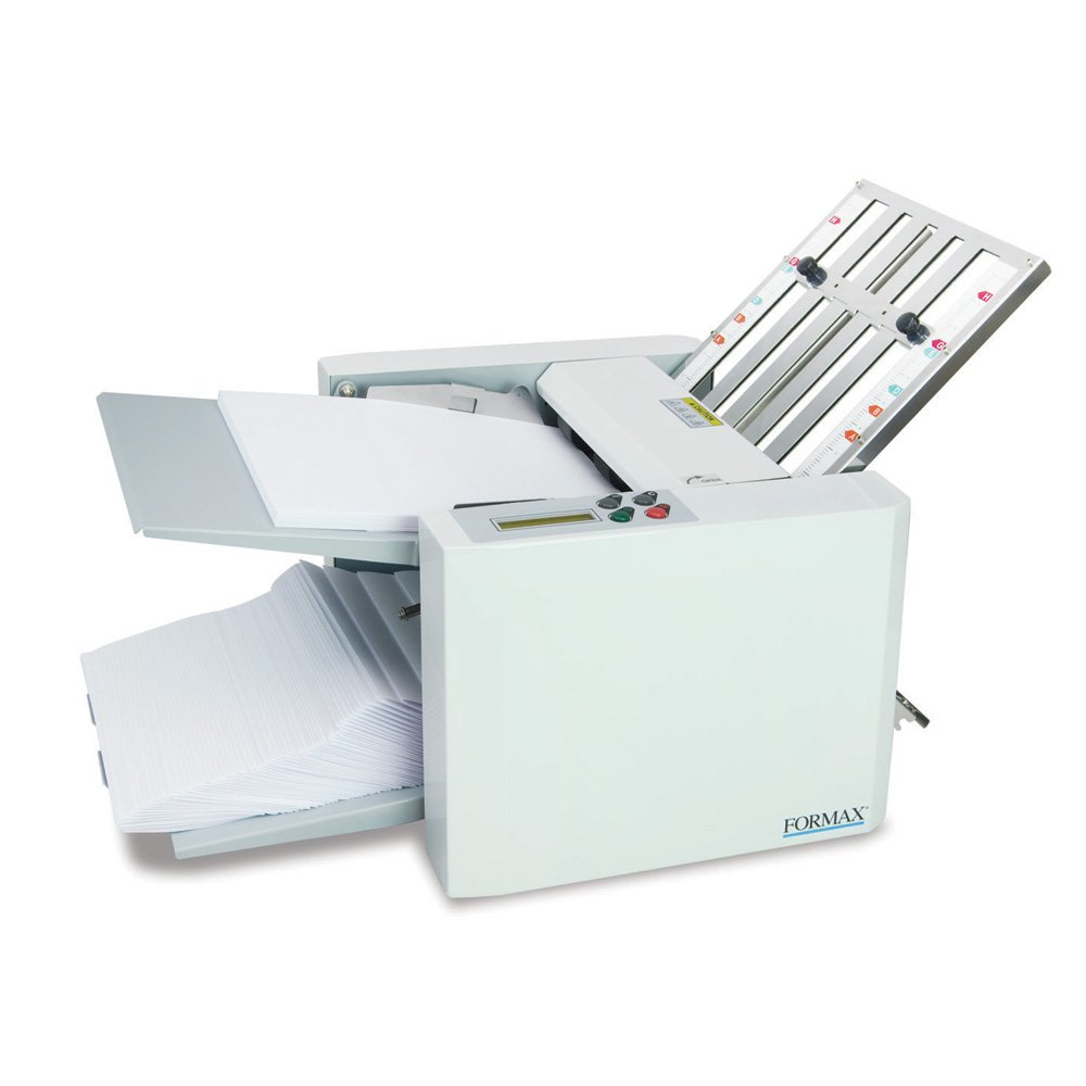 Formax FD 300 Document Folder, LCD Control Panel with 3-digit Resettable Counter, Folds Up To 7400 Sheets per Hour, Output Conveyor for Neat and Sequential Stacking by Formax
