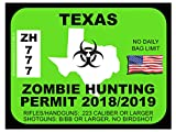 Texas Zombie Hunting Permit (Bumper Sticker)