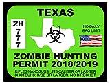 Texas Zombie Hunting Permit (Bumper Sticker)