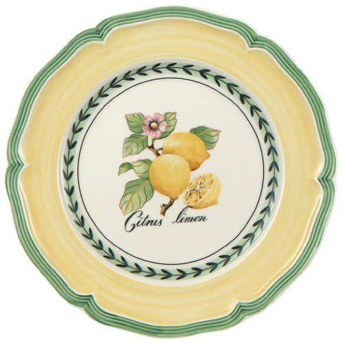 French Garden Valance Lemon Salad Plate by Villeroy & Boch - 8.25 inches