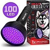 Tools & Hardware : GearLight UV Black Light Flashlight XR98 - Powerful 100 LED Blacklight Flashlights, Pet Stain Detector for Dog Urine, Scorpions, and Bed Bugs - Works Great with Carpet Odor Eliminator and Remover
