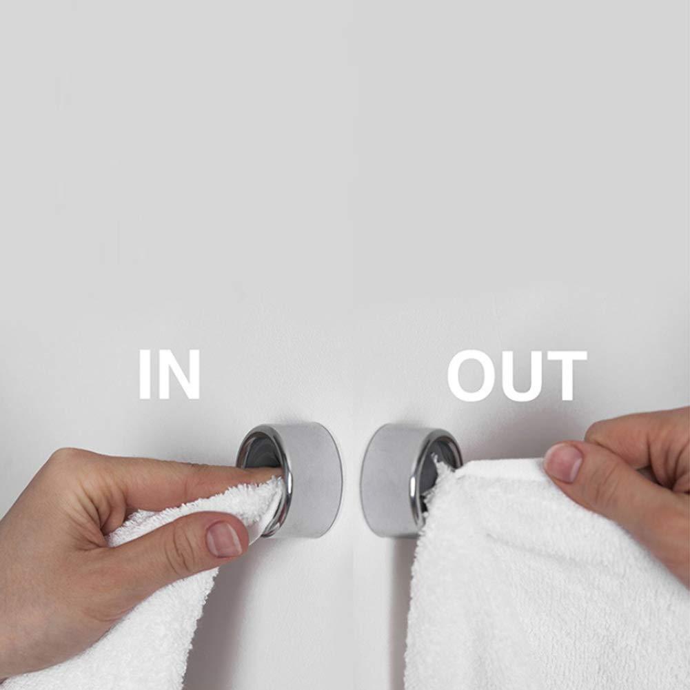 Schrauben Queta 3 St/ück Handtuchhalter f/ür Bad K/üche und Haushalt Geschirrtuchhalter ohne Bohren 4,2 x 2,2 cm 6 St/ück Selbstklebend Handtuchhaken