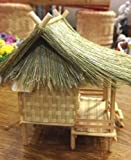 Thai Vintage House Model Wood Craft Bamboo Doll Handmade