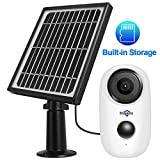 Hiseeu C10+Solar Panel,1080P Wireless Outdoor Security Camera System,Solar Powered,2-Way Audio,Rechargeable Batteries,IP65 Waterproof,Night Vision,App Remote,6 Months PIR Motion Record,32GB Storage