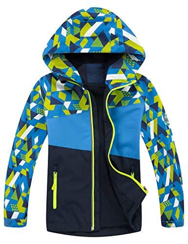 Echinodon Outdoorjas voor kinderen, waterafstotend, winddicht, overgangsjas, meisjes, jongens, regenjas, lente, herfst
