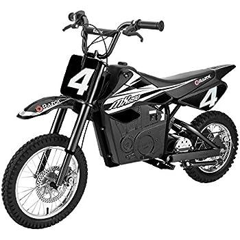 razor mx650 17 mph steel electric dirt rocket motor bike for kids 12 black