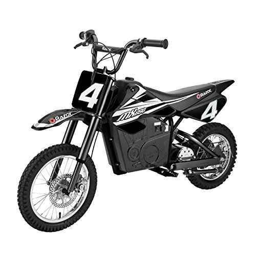 Razor MX650 17 MPH Steel Electric Dirt Rocket Motor Bike for Kids 12+, Black