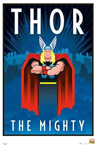 The Mighty Thor - Marvel Comics Poster / Print Art Deco Design