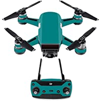 Skin for DJI Spark Mini Drone Combo - Solid Teal| MightySkins Protective, Durable, and Unique Vinyl Decal wrap cover | Easy To Apply, Remove, and Change Styles | Made in the USA