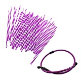JRL Purple Wheel Spoke Wraps Skins Coat Trim Cover&70cm Fuel Line Motorcycle Motocross Dirt Bike