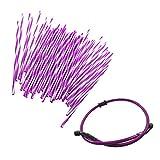 JRL Purple Wheel Spoke Wraps Skins Coat Trim