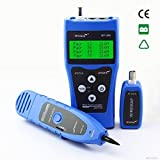 UCONTRO NF-308 Audio Cable Length Tester Wire Locator, Hunting Wire Sorting and Cable Length Test Remote Identifier (Not include battery) (Blue)
