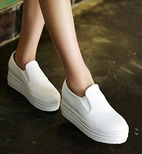 Showhow Sneakers Slip-on Con Suola Spessa Comoda Da Donna Bianca