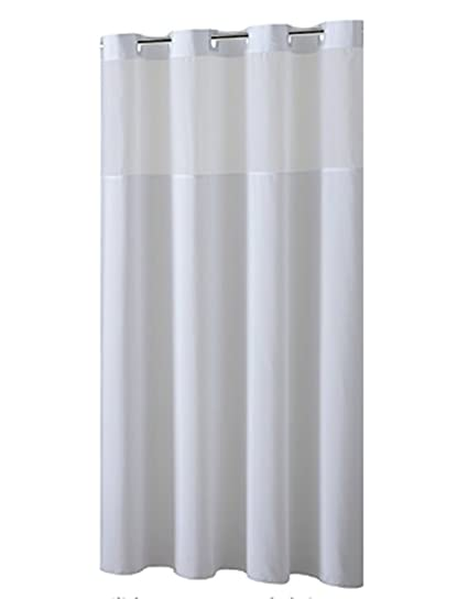 Amazon.com: YQN Hookless Shower Curtain with Removed Fabric Inner ...