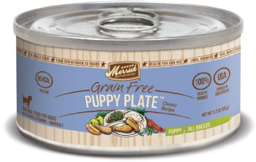 Merrick Classic Grain Free Puppy Plate Small Breed Wet Puppy Food, 3.2 oz, Case of 24 Cans